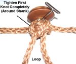 Tighten Knot Around Shank