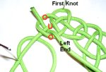 Weave End Through First Knot