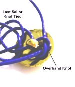 Tie First Half of Square Knot
