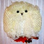 Completed Snow Owl Hanging on Wall