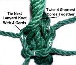 Lanyard Knot 4 Cords