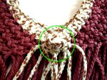 Square Knot Button Detail